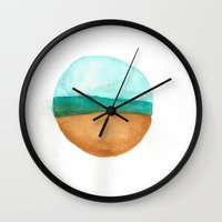 wisconsin Wall Clocks featuring Wisconsin by karleegerrand