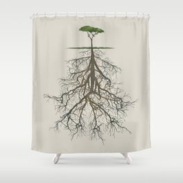 In the deep (tree) Shower Curtain