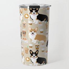 Corgi coffee welsh corgis dog breed pet lovers tan corgi crew Travel Mug