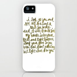 I Look At You / Lanterns iPhone Case