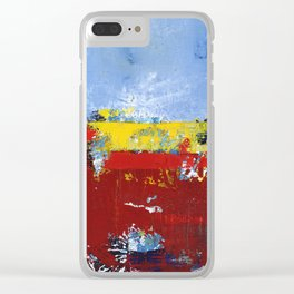 Deerfield Red Yellow Blue Abstract Art Primary Colors Clear iPhone Case
