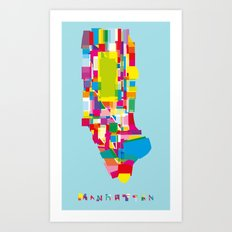 Manhattan Fragments Art Print