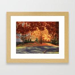 September Walk in Maine Framed Art Print