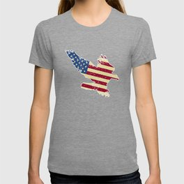American Flag USA Pride Attacking Eagle Patriot T-shirt