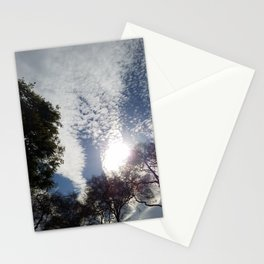 Scattered clouds Stationery Cards