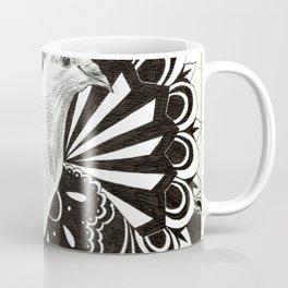Black Lace Dove Coffee Mug