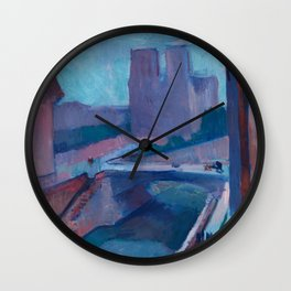 A GLIMPSE OF NOTRE DAME IN LATE AFTERNOON - HENRI MATISSE Wall Clock