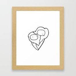 weird love Framed Art Print