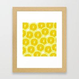 Summer Citrus Lemon Slices Framed Art Print