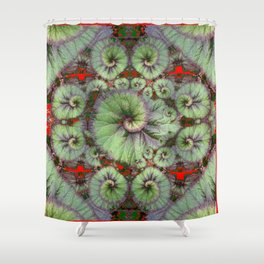 Escargot Begonias Abstract Shower Curtain