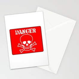 Red Danger Sign Stationery Cards
