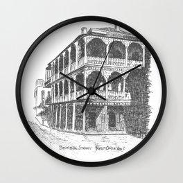 Bourbon St, New Orleans Wall Clock