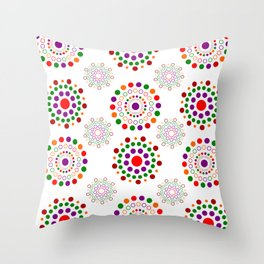 pattern decotation of cecles  Throw Pillow