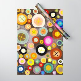 The incident - Circles pale vintage cross Wrapping Paper