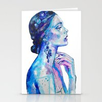 queen Stationery Cards featuring Queen by Andreea Maria Has