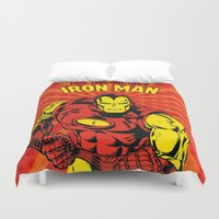 ironman Duvet Covers featuring IronMan 2 by WaXaVeJu