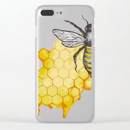 lamieldelojo. honey bee Clear iPhone Case