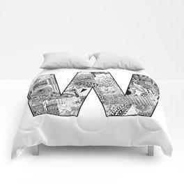 Cutout Letter W Comforters