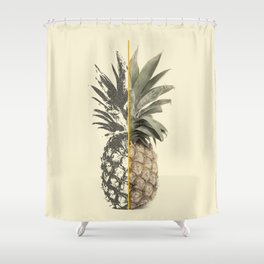 Double Pineapple Shower Curtain