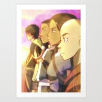 the last airbender Art Prints featuring Avatar The Last Airbender by YAMsgarden