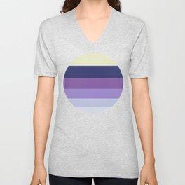 Purple Geometric Stripe Pattern Unisex V-Neck