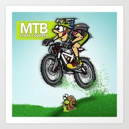 MTB cross country Art Print