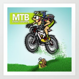 MTB cross country Art Print
