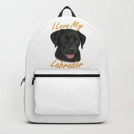 I Love My Labrador Backpack