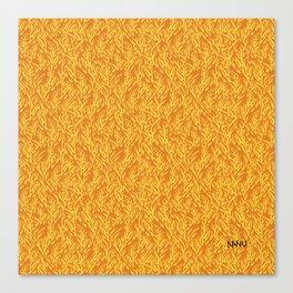 Feathered Flocks - Tangerine Canvas Print