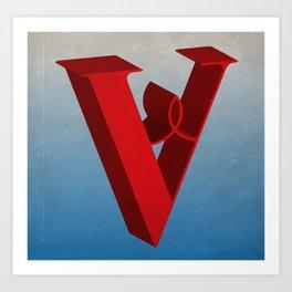 The Letter V Art Print