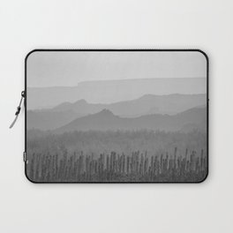 Sunrise at the misty mountains. Bad lands. WB Laptop Sleeve