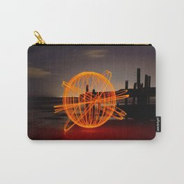 'ATOMIC ORANGE' - Light Painting Carry-All Pouch