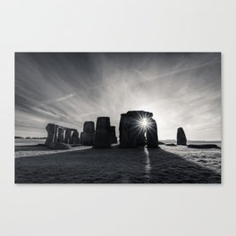 The sun and the stones Canvas Print