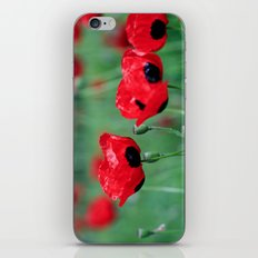 Poppy Love iPhone & iPod Skin