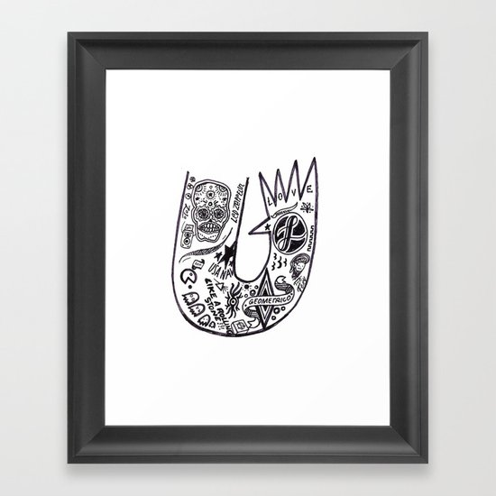 tattoo arm - jebba Framed Art Print