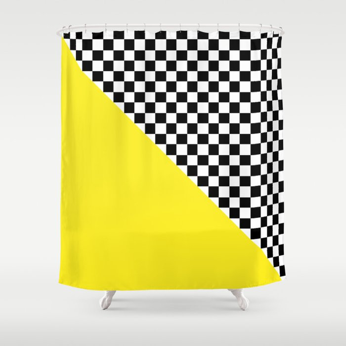 curtain checkered gingham black turquoise design red shower kids white bathroom and with