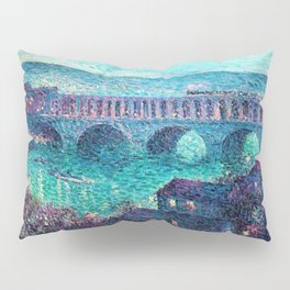 Classical Masterpiece: The Auteuil Viaduct by Maximilian Luce Pillow Sham