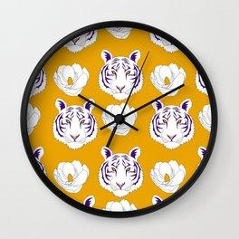 LSU yellow Wall Clock