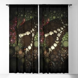 Butterfly Circle Mosaic Design Blackout Curtain