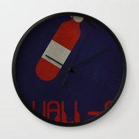 wall e Wall Clocks featuring Wall-E by Matt Bacon