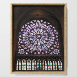 Notre Dame Rose Window Serving Tray