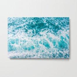 Ocean waves from above Metal Print