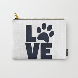 Love Pets Paw Cat Dog Cute Carry-All Pouch