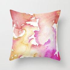 pink wash Throw Pillow