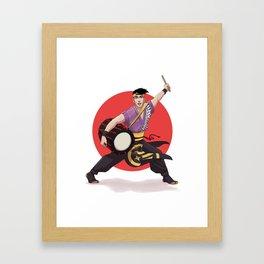 Yosakoi Dancer Shiro Framed Art Print