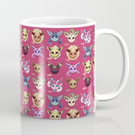 Eeveelution Maroon Coffee Mug