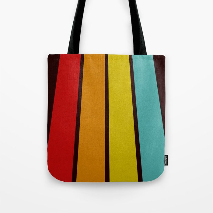 Retro Lines Tote Bag