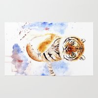 tiger Area & Throw Rugs featuring Tiger by Anna Shell