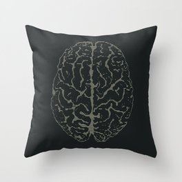 Brain Print Throw Pillow