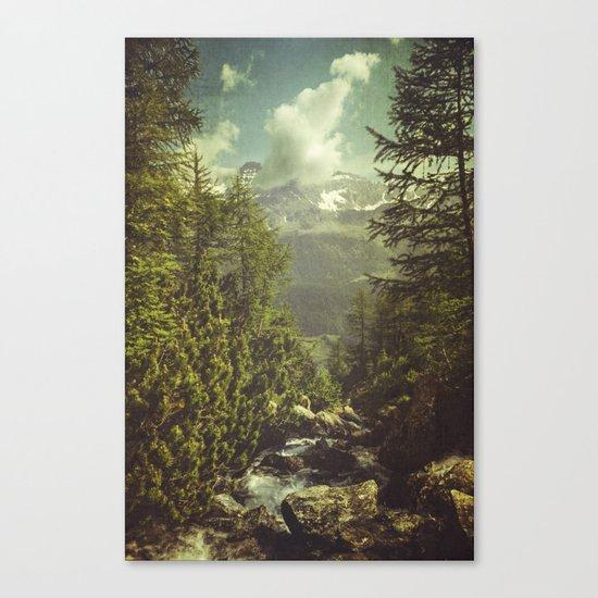 Mountain View - Italian Alps Canvas Print